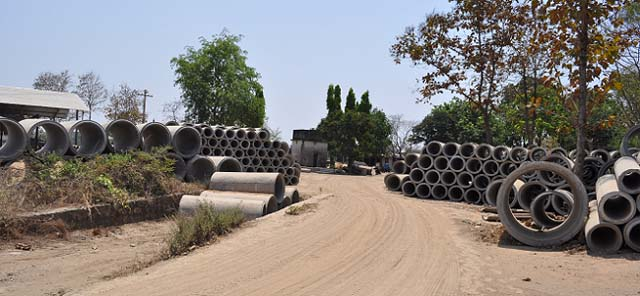 Kunal Spun Pipes - Stock Yard