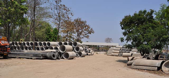 Kunal Spun Pipes - a Factory Image